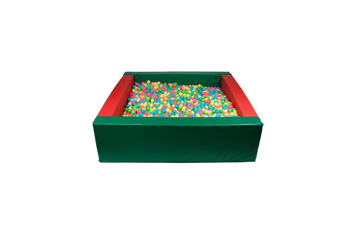 Квадратный сухой бассейн 1500х1500х400х150