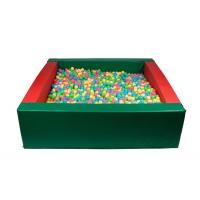 Квадратный сухой бассейн 2150х2150х600