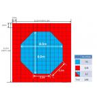 Корт (додянг) восьмиугольный для тхэквондо соревновательный